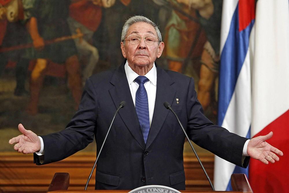Председатель Госсовета коммунистической Кубы Рауль Кастро