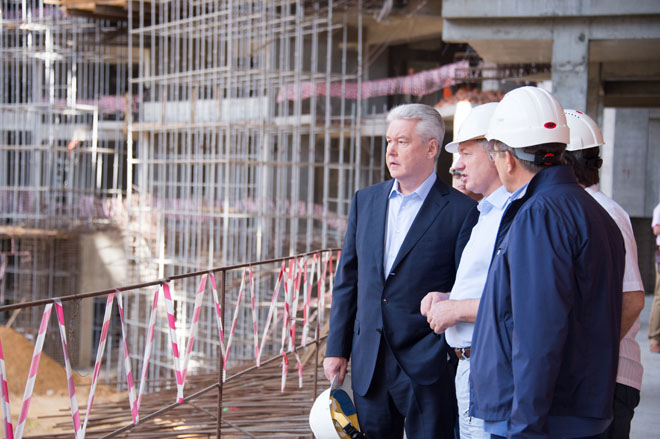 Сергей Собянин на реконструкции Большой спортивной арены в «Лужниках»