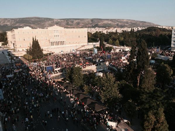 """Акция сторонников ответа """"нет"""" на греческом референдуме"""