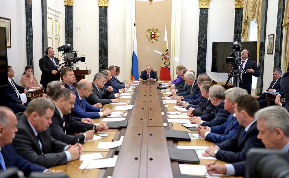 Владимир Путин провёл заседание Совета Безопасности России