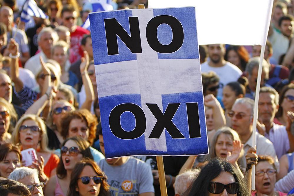 Митинг в Греции против соглашения с кредиторами