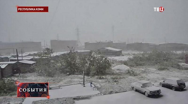 Снегопад в Республике Коми