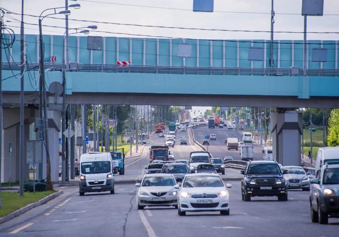 Эстакада на пересечении Варшавского шоссе