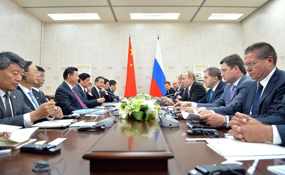Российско-китайские переговоры на саммите в Уфе