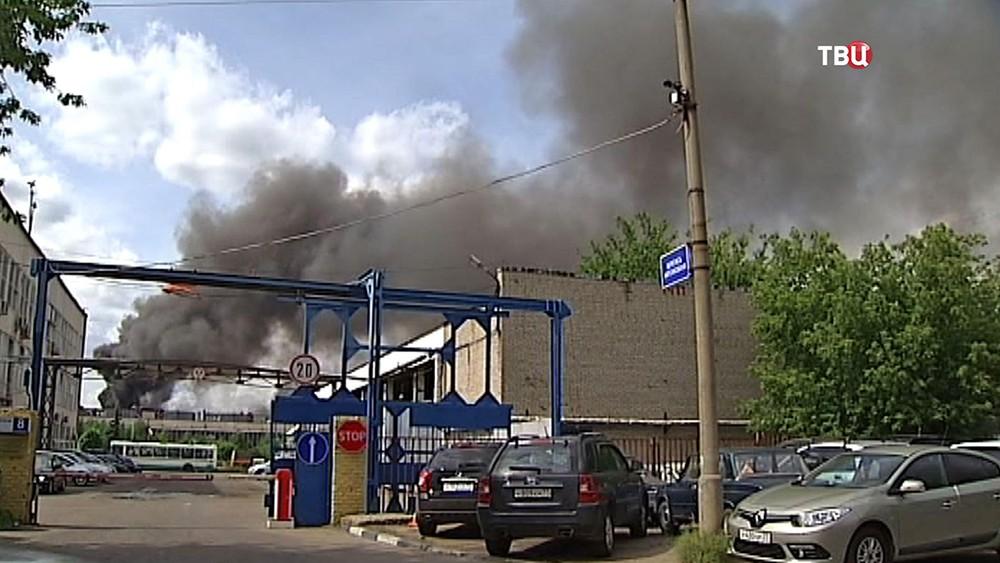 Пожар на заводе ЗиЛ