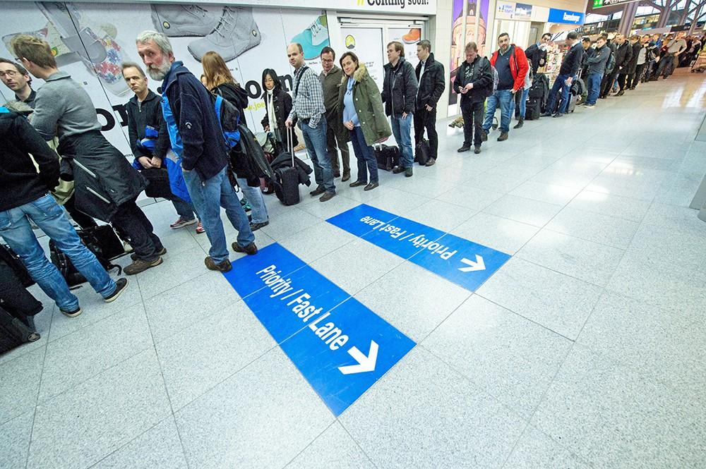 Отмена рейсов в аэропорту