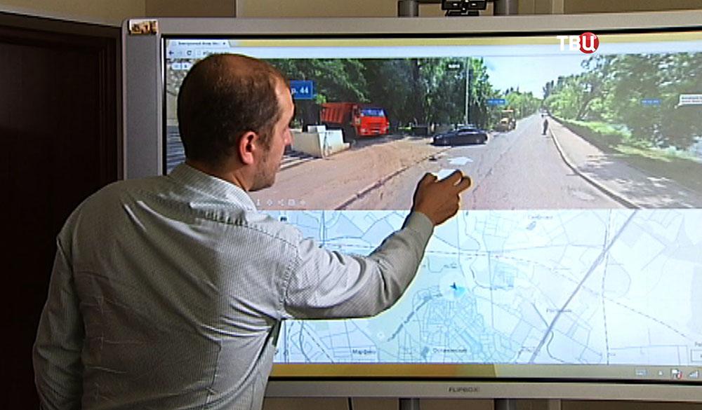 Построение трехмерной карты Москвы