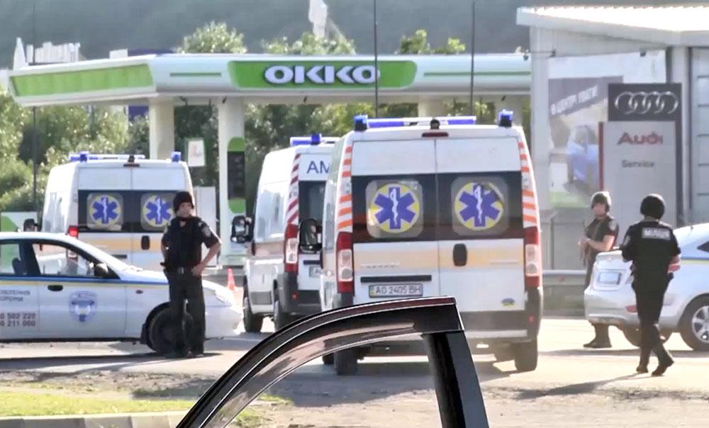 Машины скорой помощи в зоне спецоперации в Мукачево