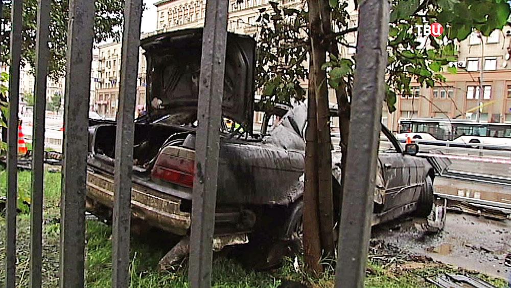 Последствия ДТП на Беговой улице