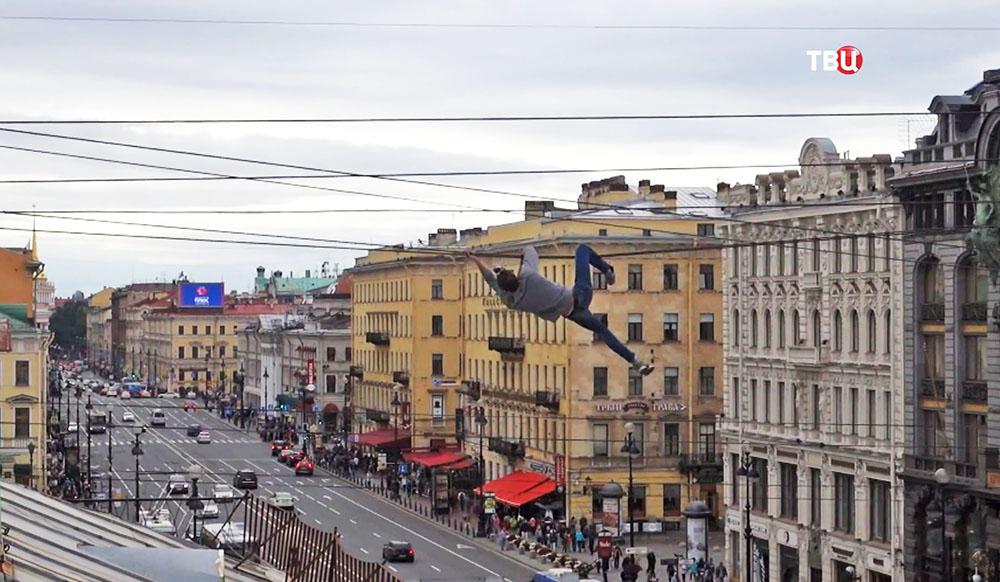 Руфер над Невским проспектом