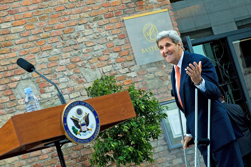 Госсекретарь США Джон Керри во время переговоров по иранской ядерной программе