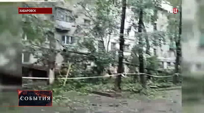 """Последствие тайфуна """"Чан-Хом"""" в Хабаровском крае"""
