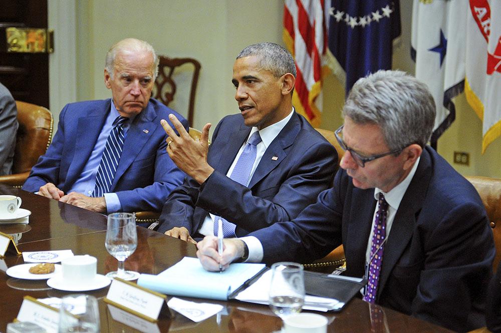 Президент США Барак Обама и вице-президент США Джозеф Байден