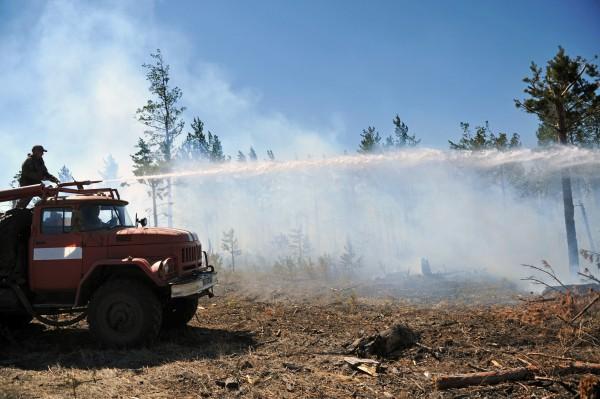 Тушение лесных пожаров в Забайкалье
