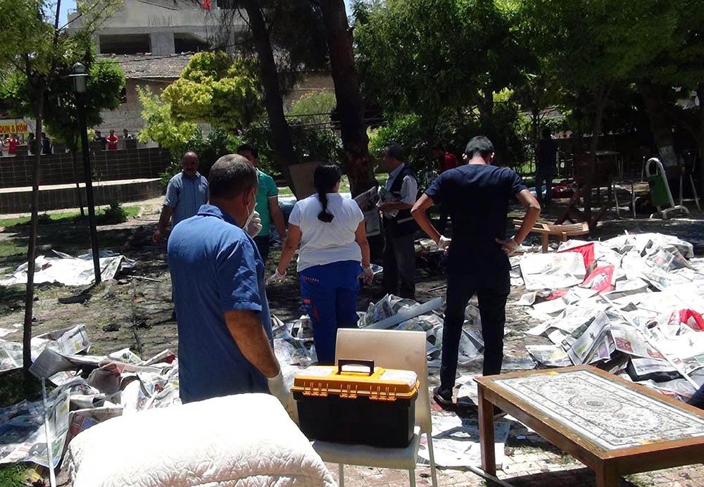 На месте теракта в Турции