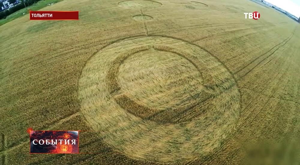 Загадочные круги на поле под Тольятти