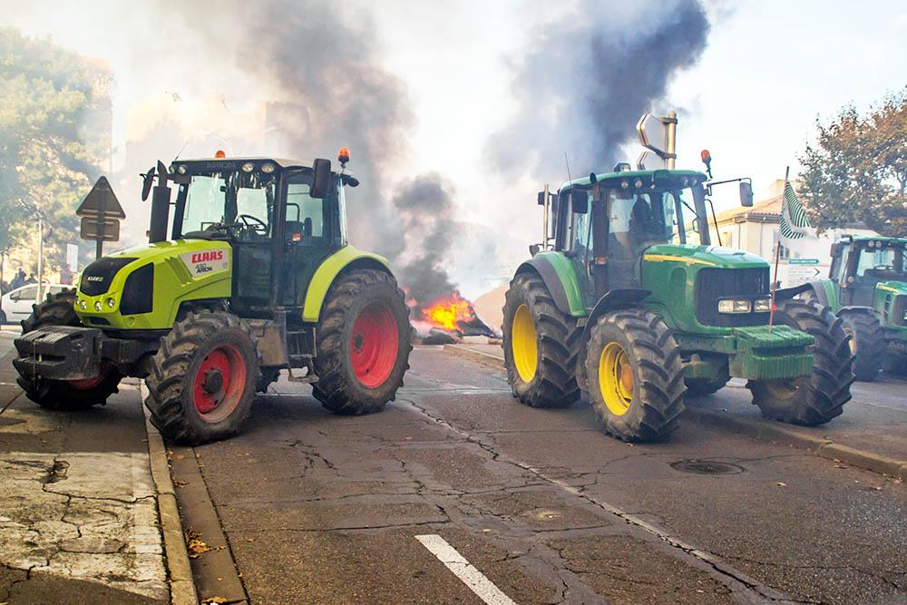 Акция протеста фермеров во Франции