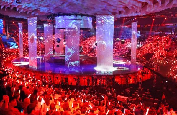 Церемония открытия XVI чемпионата мира по водным видам спорта в Казани