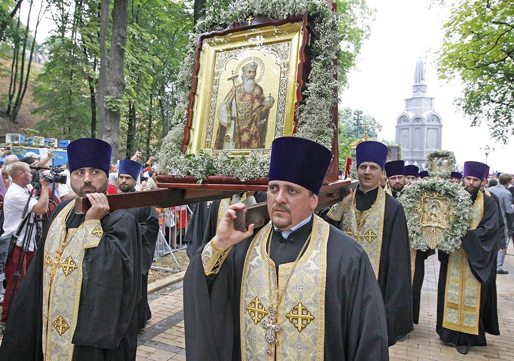 Крестный ход по случаю 1000-летия преставления святого равноапостольного князя Владимира в Киеве