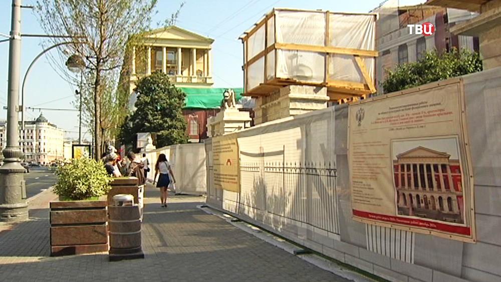Реставрационные работы в Музее современной истории России