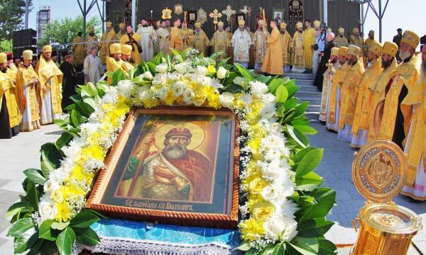 Торжественное богослужение в честь празднования Дня крещения Руси