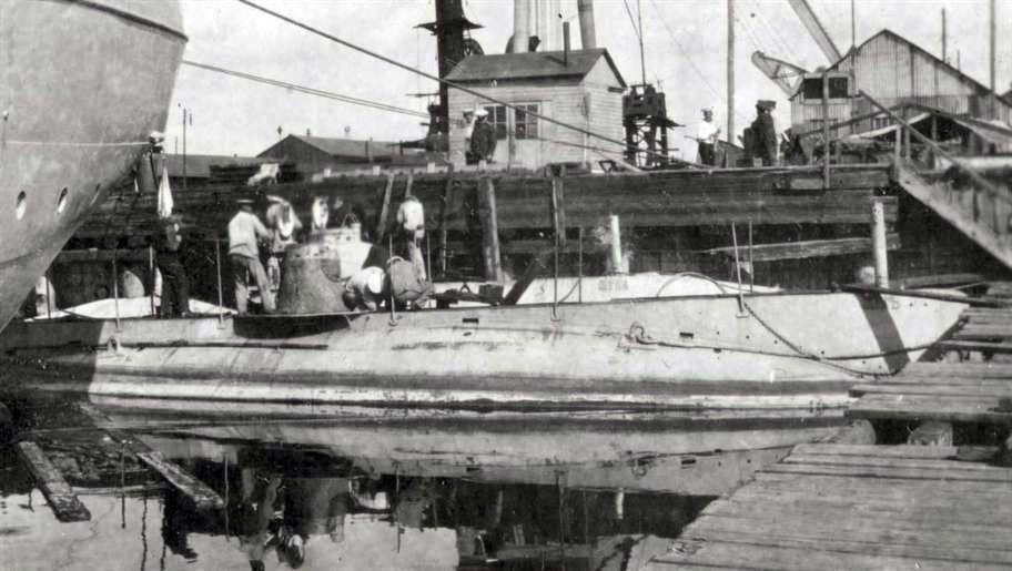 Фото предполагаемой подводной лодки, затонувшей у берегов Швеции