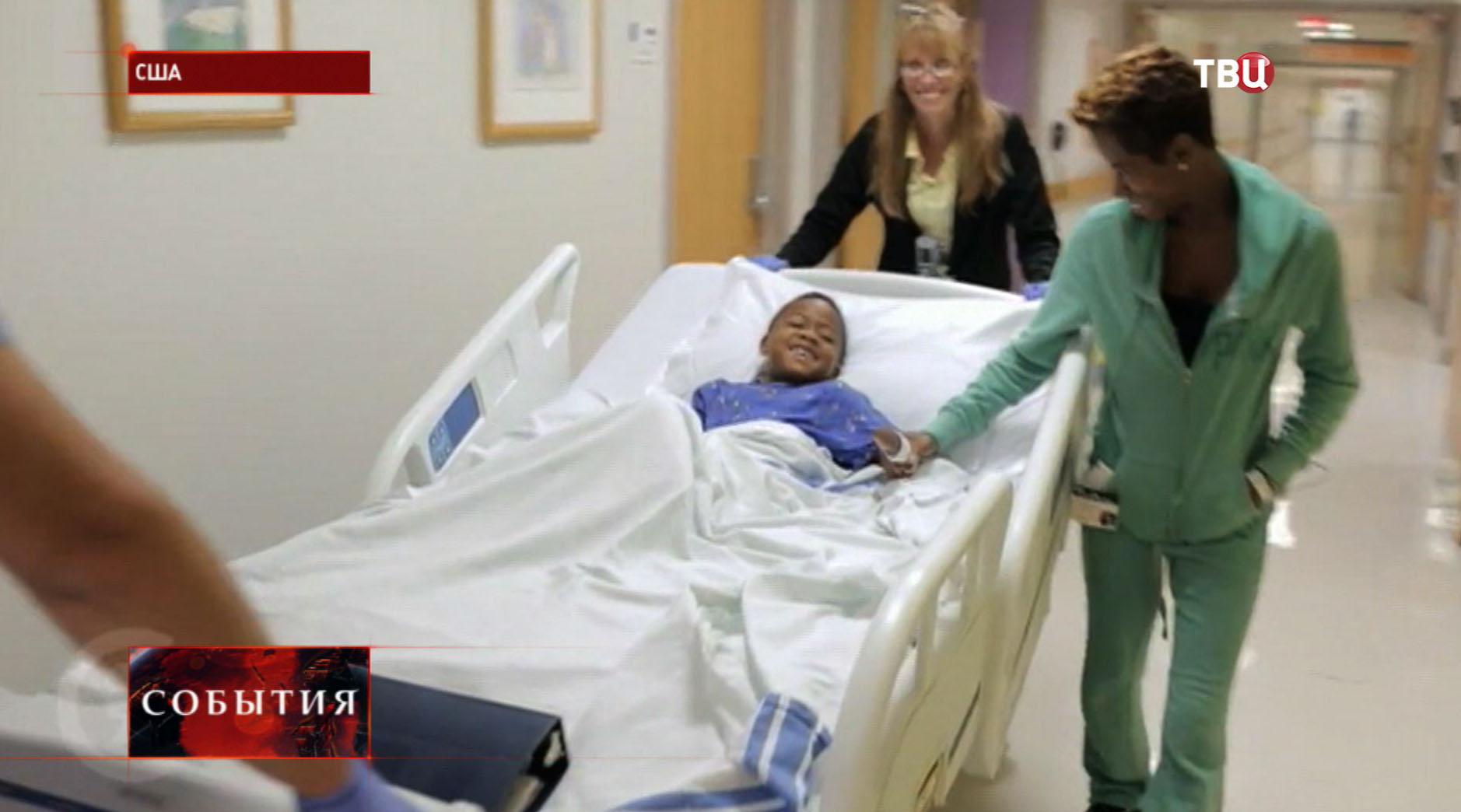 Восьмилетний ребенок в больнице