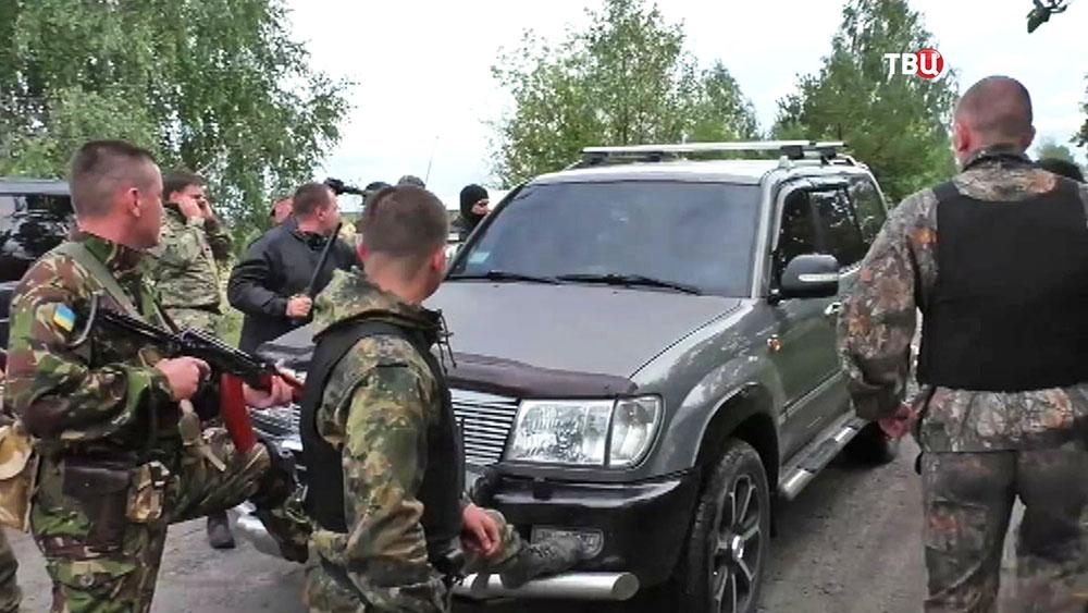 Украинские силовики проводят задержание