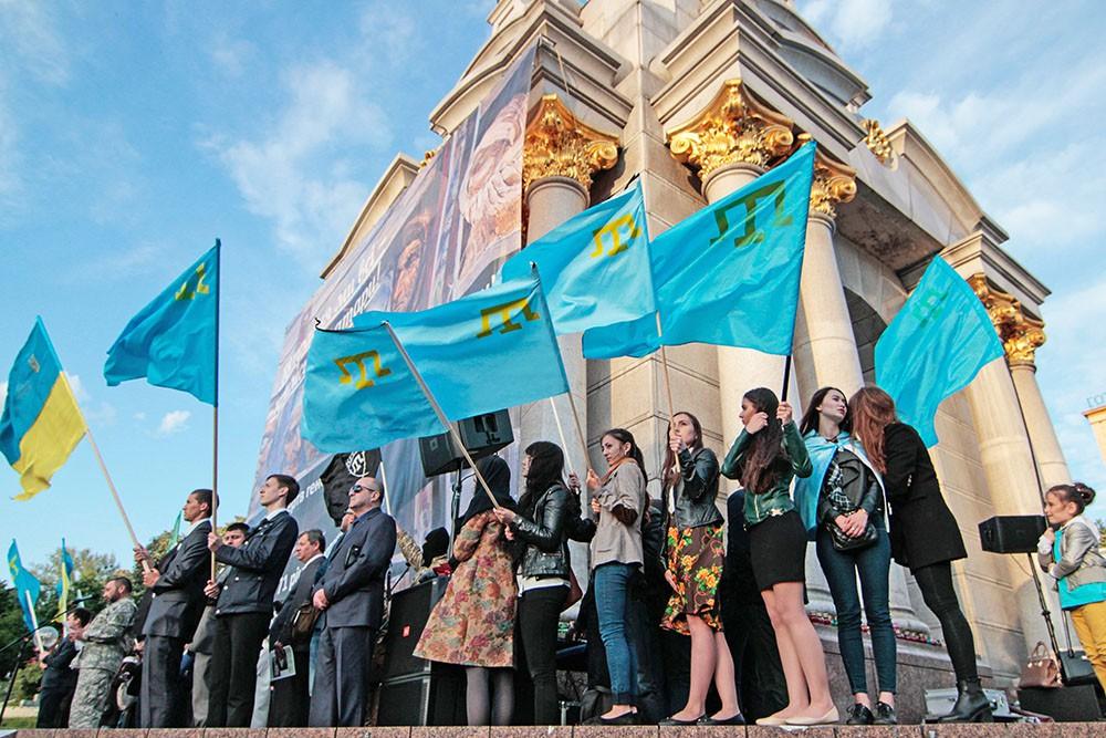 Митинг Крымских Татар в Киеве