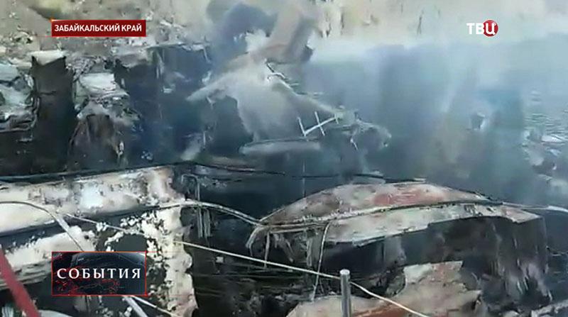 "Пожар на теплоходе ""Баргузин"""