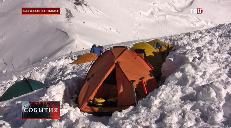 Альпинисты в Киргизии