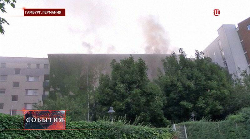 Пожар в Гамбурге
