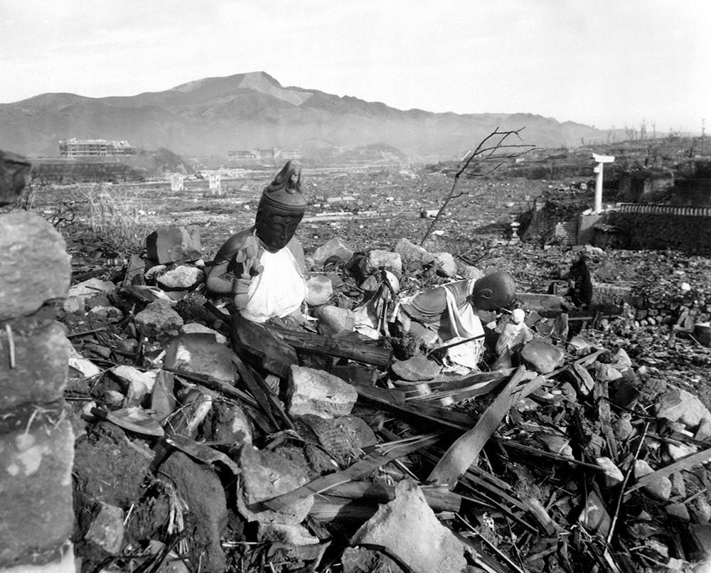 Город Нагасаки после ядерной бомбардировки