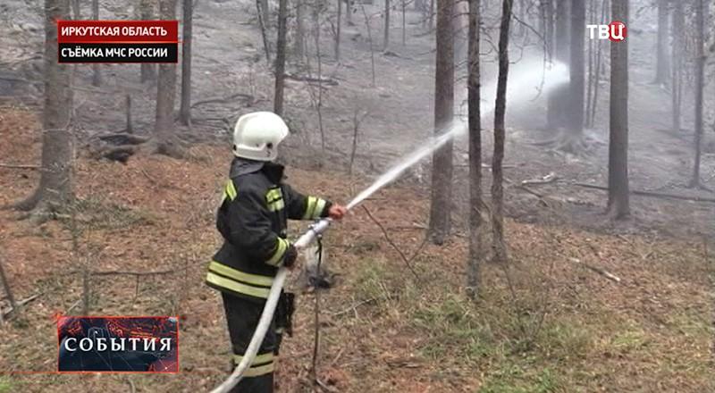 Лесной пожар в Иркутской области