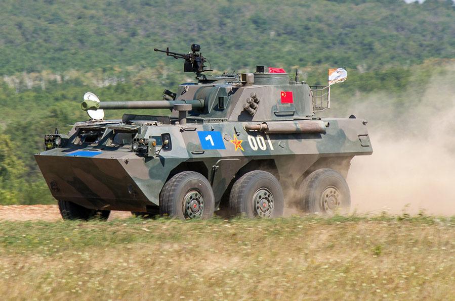 """Китайская миномётная установка на """"Армейских играх"""""""