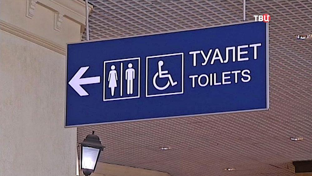 """Туалет в аэропорту """"Домодедово"""""""