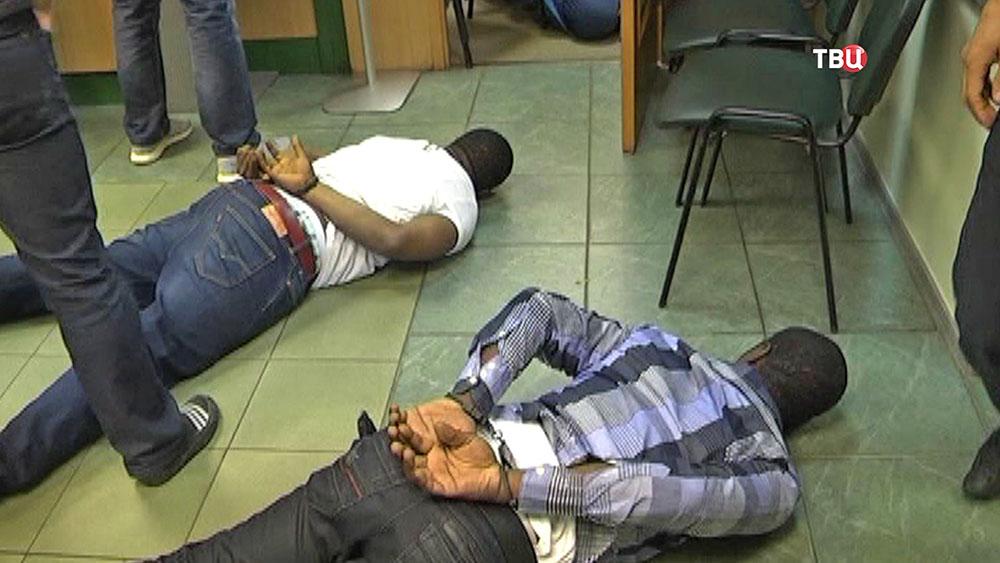 Задержание африканской банды