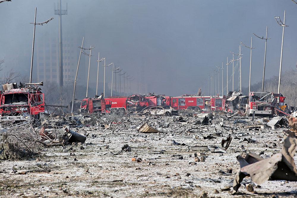 Последствия взрывов в Китае