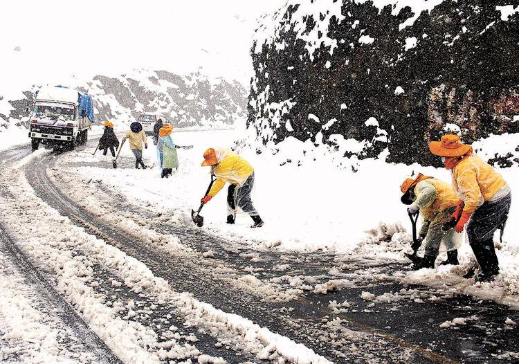 Снегопад в Боливии