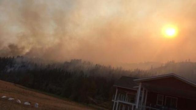 Пожары в Канаде