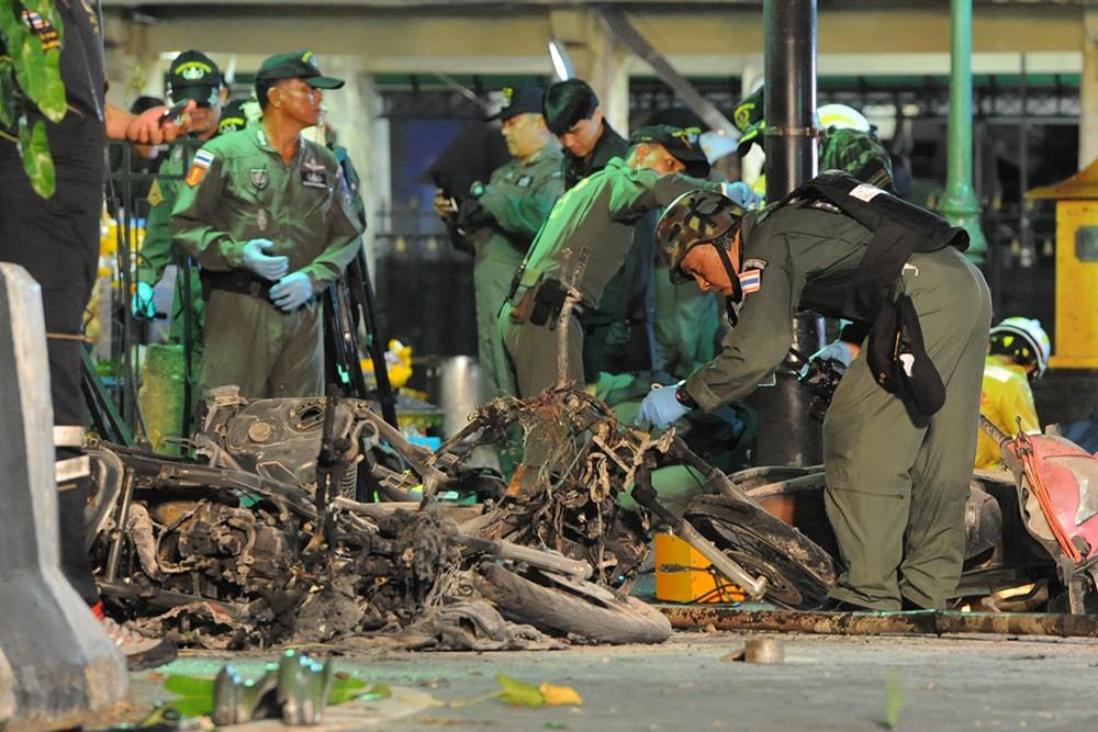 Военные на месте взрыва в Бангкоке