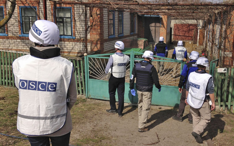 Представители миссии ОБСЕ в Донбассе