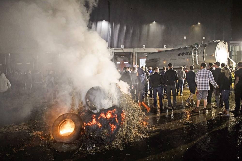 Акция протеста фермеров в Европе