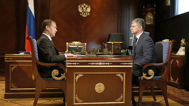 Дмитрий Медведев и Олег Белозеров