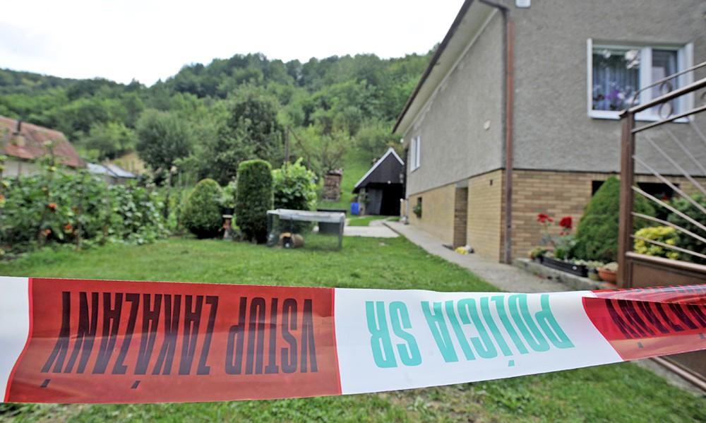 Оцепление места происшествия в Словакии