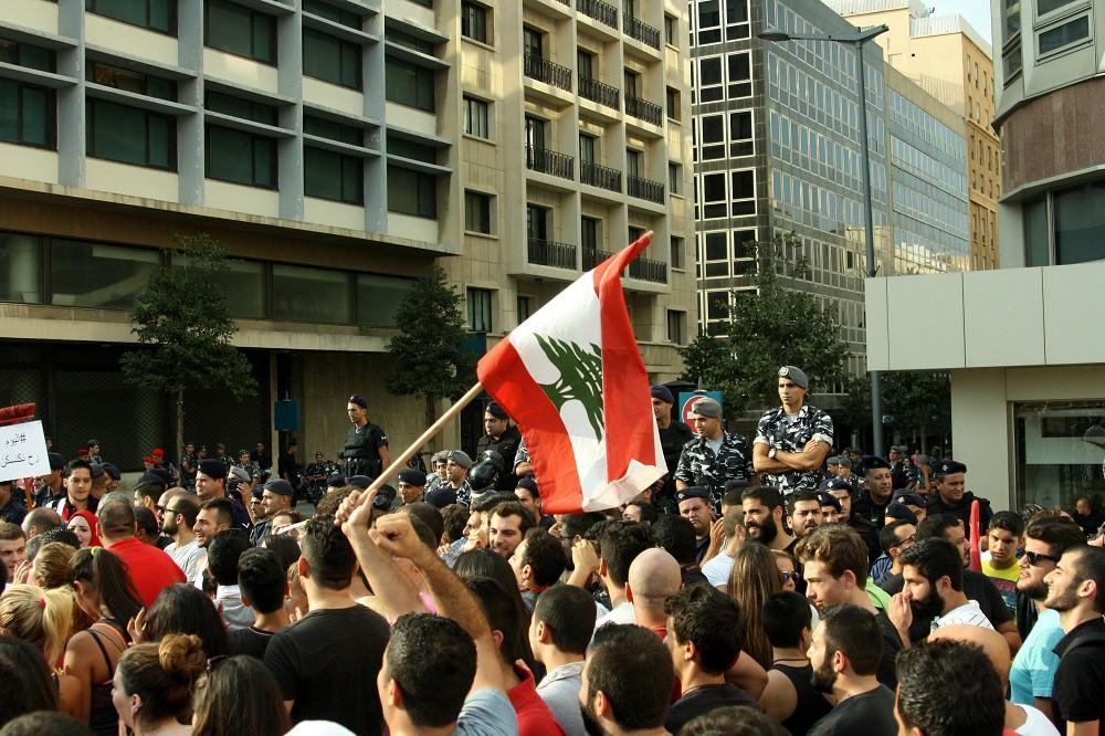 Акция протеста в Бейруте