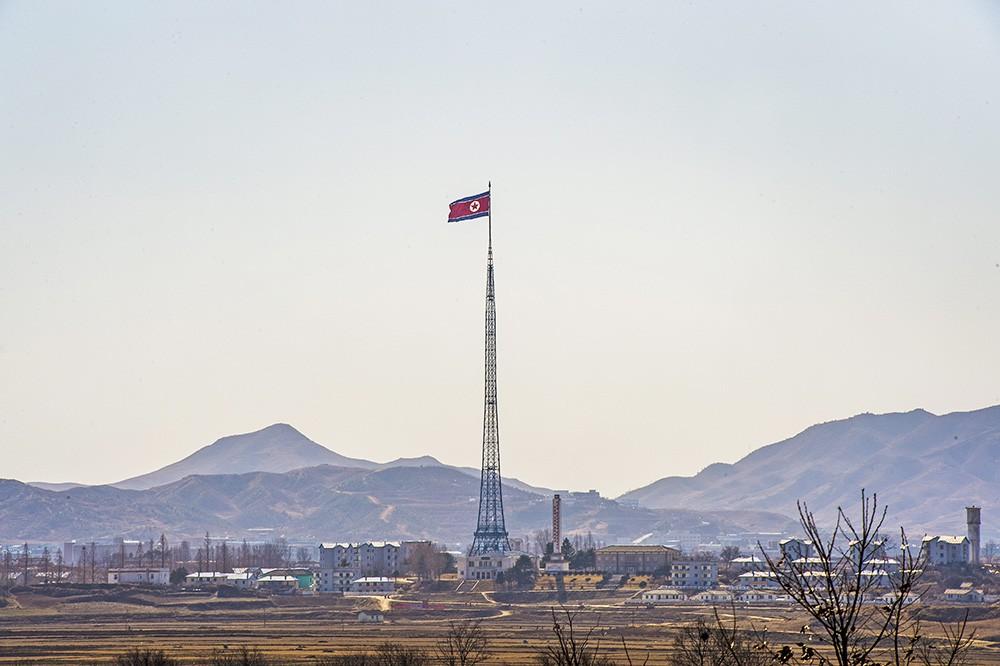 Приграничный город Северной Кореи