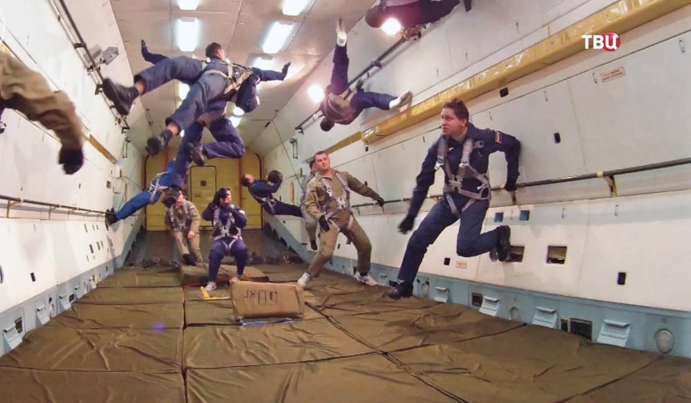 Имитация невесомости в самолете Ил-76 Центра подготовки космонавтов