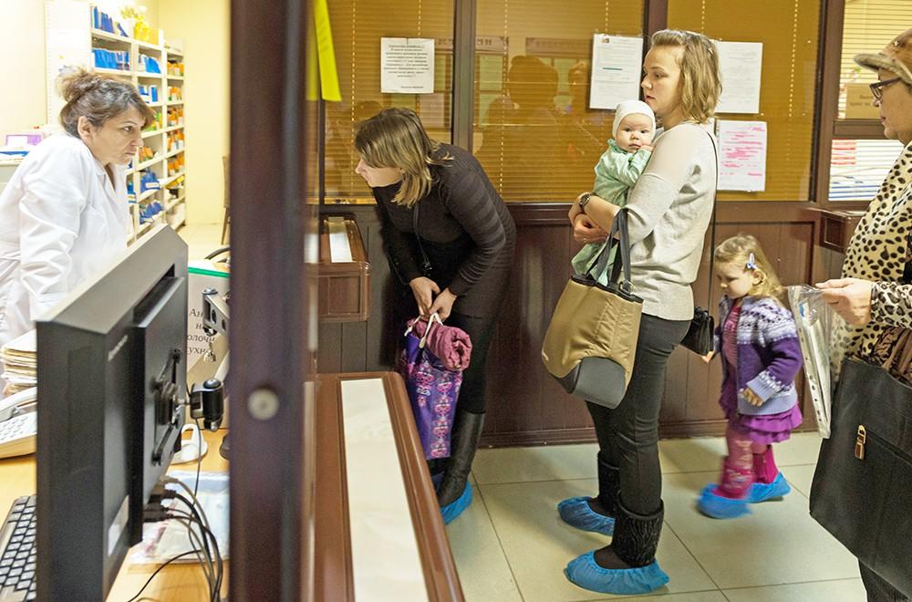 Регистратура в детской поликлинике