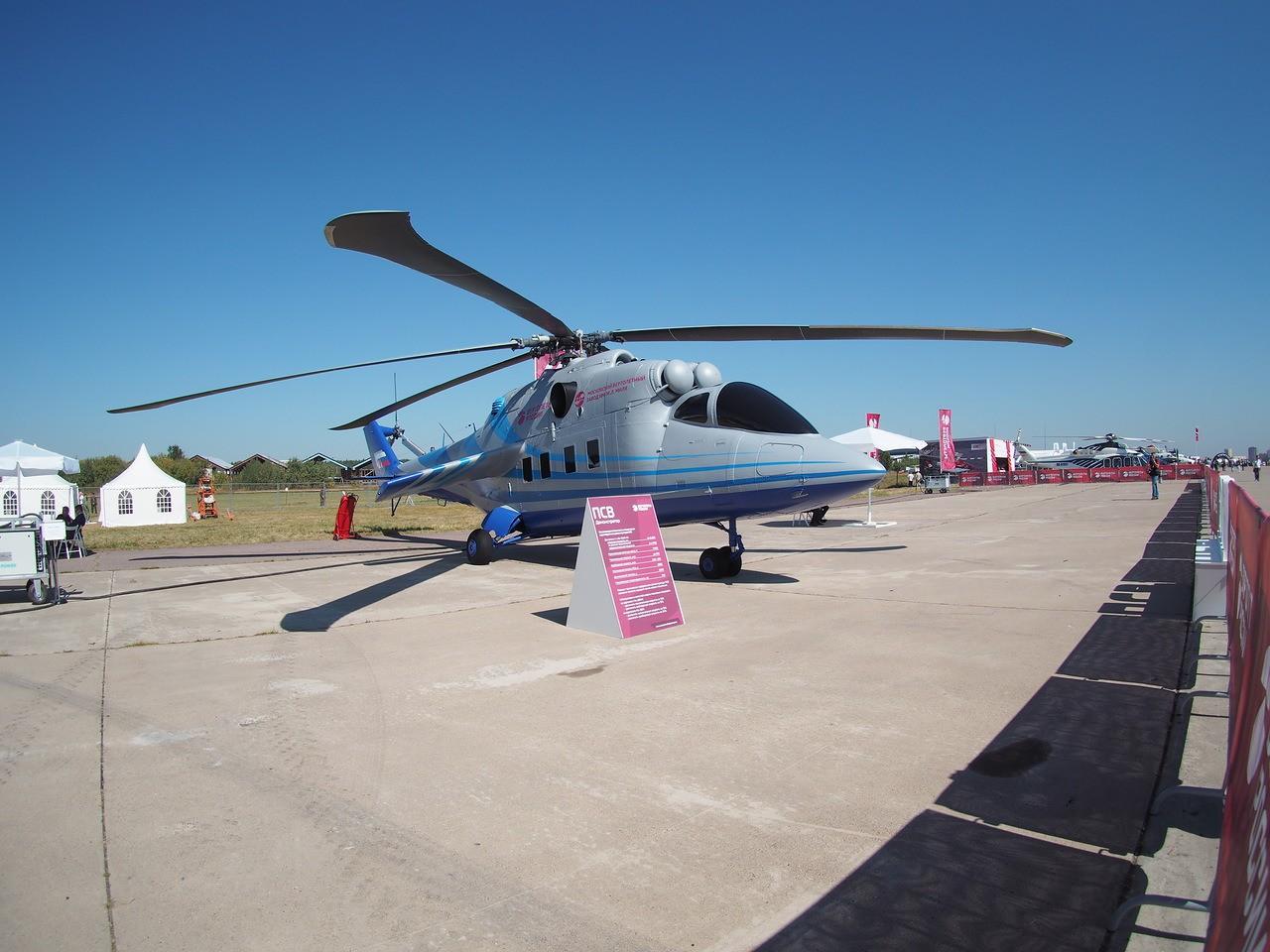 Вертолёт на Международном авиационно-космическом салоне МАКС